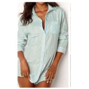 Victoria's Secret Button Down Pajama Shirt